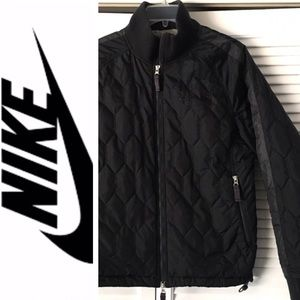 NIKE Black BOMBER Jacket Like-New